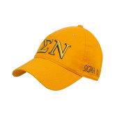 Gold Twill Unstructured Low Profile Hat-Greek Letters w/ Trim