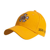 Gold Heavyweight Twill Pro Style Hat-Badge