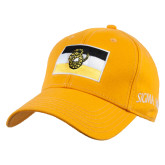 Gold Heavyweight Twill Pro Style Hat-Sigma Nu Flag