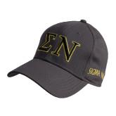 Charcoal Heavyweight Twill Pro Style Hat-Greek Letters w/ Trim