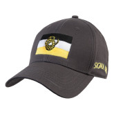 Charcoal Heavyweight Twill Pro Style Hat-Sigma Nu Flag