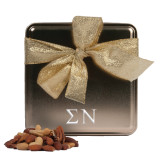 Deluxe Nut Medley Gold Medium Tin-Greek Letters Engrave