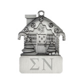 Pewter House Ornament-Greek Letters Engrave
