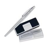 Cross ATX Pure Chrome Rollerball Pen-Sigma Nu Engrave