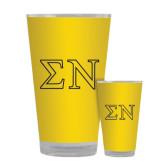 Full Color Glass 17oz-Greek Letters w/ Trim