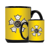 Full Color Black Mug 15oz-Badge