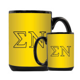 Full Color Black Mug 15oz-Greek Letters w/ Trim