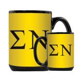 Full Color Black Mug 15oz-Greek Letters