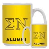 Alumni Full Color White Mug 15oz-Greek Letters w/ Trim