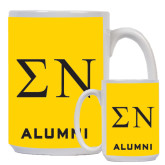 Alumni Full Color White Mug 15oz-Greek Letters