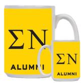 Alumni Full Color White Mug 15oz-Greek Letters