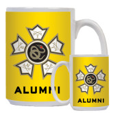 Alumni Full Color White Mug 15oz-Badge