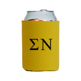 Neoprene Gold Can Holder-Greek Letters