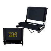 Stadium Chair Black-Greek Letters w/ Trim