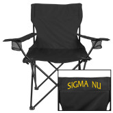 Deluxe Black Captains Chair-Arched Sigma Nu