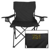 Deluxe Black Captains Chair-Greek Letters w/ Trim