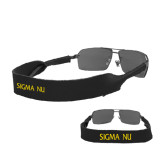Croakies Black Wide Band Sunglasses Strap-Sigma Nu