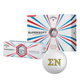 Callaway Supersoft Golf Balls 12/pkg-Greek Letters w/ Trim