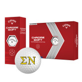 Callaway Chrome Soft Golf Balls 12/pkg-Greek Letters w/ Trim