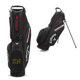 Callaway Hyper Lite 5 Black Stand Bag-Greek Letters w/ Trim
