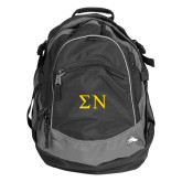 High Sierra Black Titan Day Pack-Greek Letters