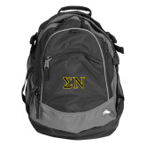 High Sierra Black Titan Day Pack-Greek Letters w/ Trim