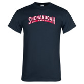 Navy T Shirt-Shenandoah University Arched