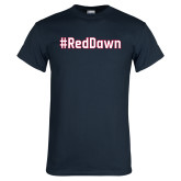 Navy T Shirt-Red Dawn