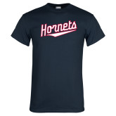 Navy T Shirt-SU Hornets Script