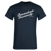 Navy T Shirt-Script Established Date