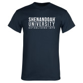 Navy T Shirt-Established Date Stacked