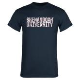 Navy T Shirt-Shenandoah University - Distressed