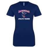 Next Level Ladies SoftStyle Junior Fitted Navy Tee-Athletic Training