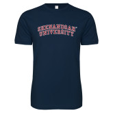 Next Level SoftStyle Navy T Shirt-Arched