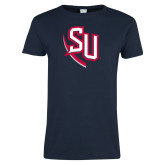 Ladies Navy T Shirt-SU