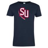 Ladies Navy T Shirt-SU