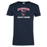 Ladies Navy T Shirt-Athletic Training
