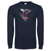 Navy Long Sleeve T Shirt-Hornet