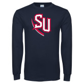 Navy Long Sleeve T Shirt-SU