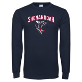 Navy Long Sleeve T Shirt-Shenandoah Hornet