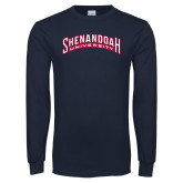 Navy Long Sleeve T Shirt-Shenandoah University Arched