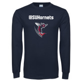 Navy Long Sleeve T Shirt-SU Hornets