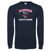 Navy Long Sleeve T Shirt-Athletic Training