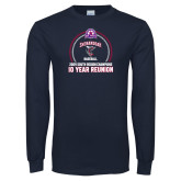 Navy Long Sleeve T Shirt-10 Year Reunion 2009 Baseball Champions