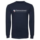Navy Long Sleeve T Shirt-Primary University Mark