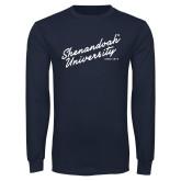 Navy Long Sleeve T Shirt-Script Established Date