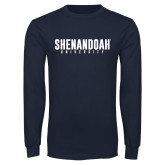 Navy Long Sleeve T Shirt-Shenandoah University