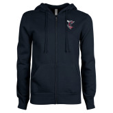 ENZA Ladies Navy Fleece Full Zip Hoodie-Hornet