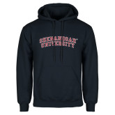 Navy Fleece Hoodie-Arched