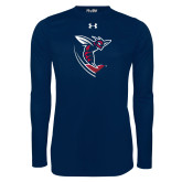 Under Armour Navy Long Sleeve Tech Tee-Hornet
